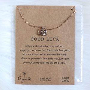 Dainty Good Luck Elephant Necklace Pendant ✨